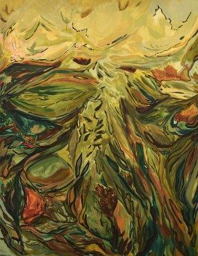 "Abundant Surroundings 2019 Acrylic on canvas 80""x60"""